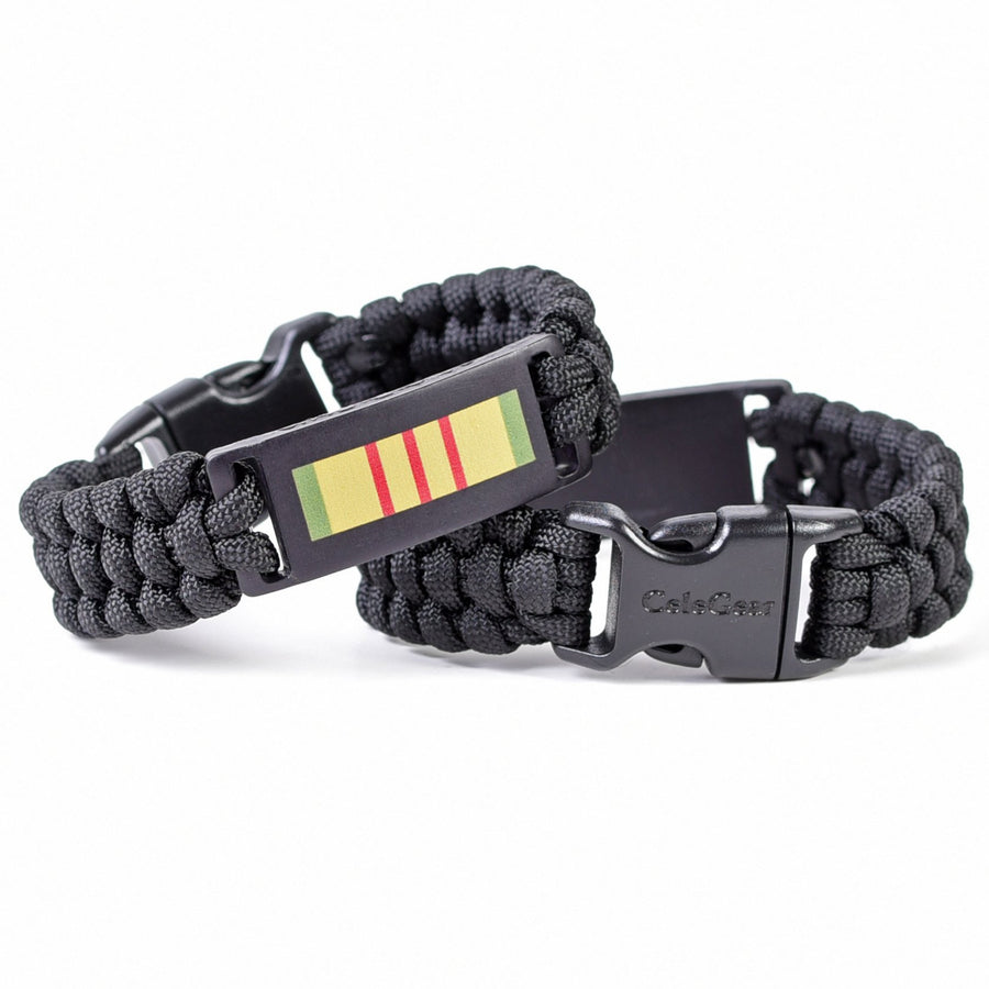 Vietnam Service Ribbon Paracord Bracelet (Multiple Sizes)