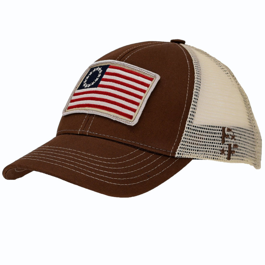 Betsy Ross Flag Patch Trucker Hat