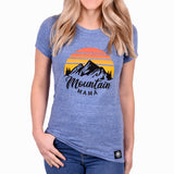 Women's Mountain Mama - Heather Blue