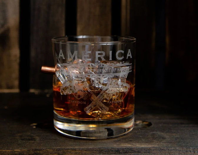 Handcrafted 11oz Whiskey Glass - Unalienable Rights