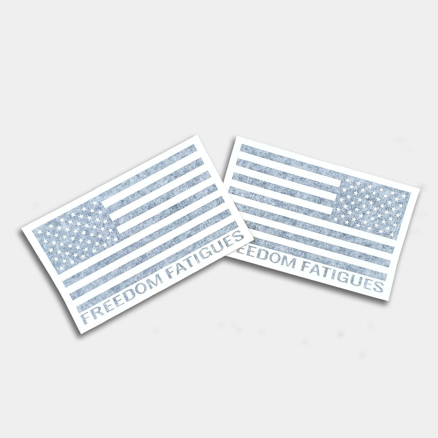 Two-Pack Branded American Flags, Reverse & Forward Facing