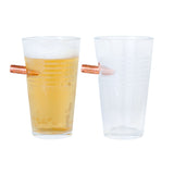 Handcrafted Pint Glass - Branded American Flag