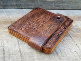 American made leather coasters