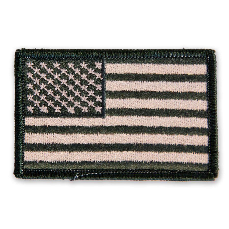 Olive Green American Flag Velcro Patch