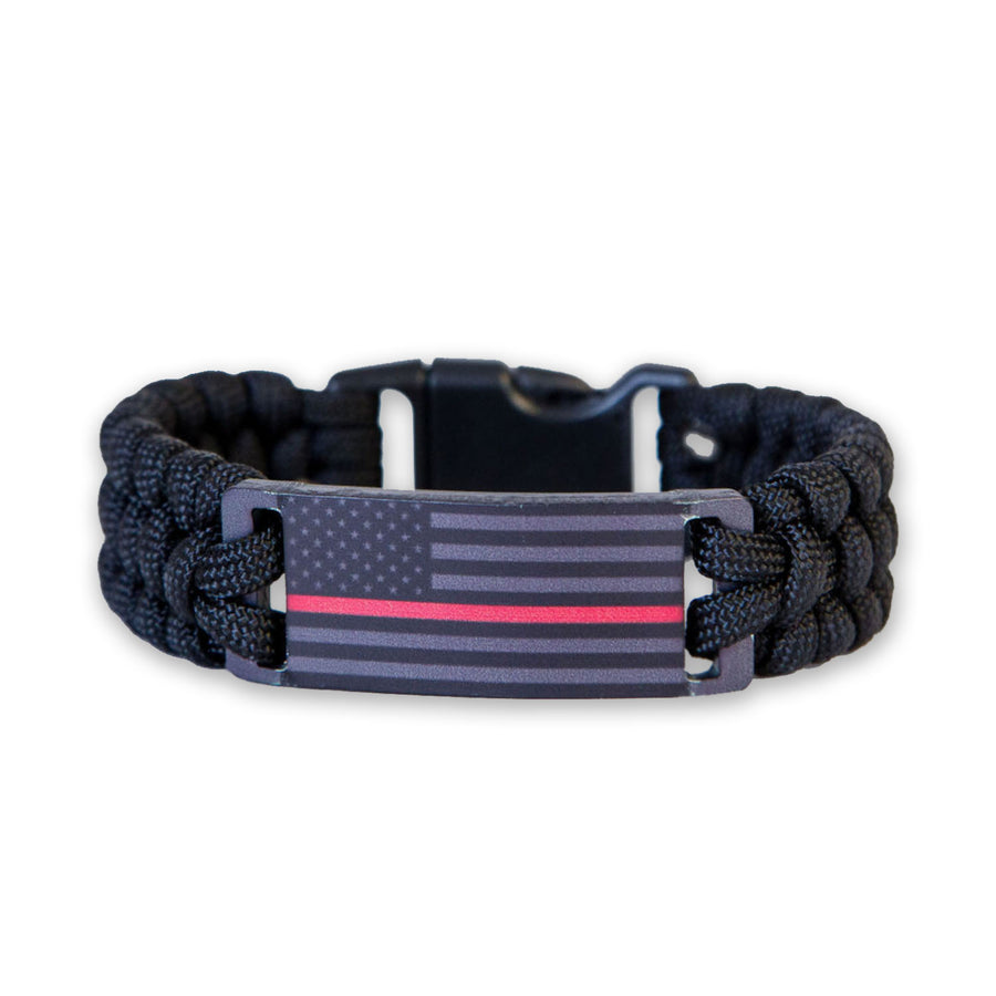 Thin Red Line Paracord Bracelet (Multiple Sizes)