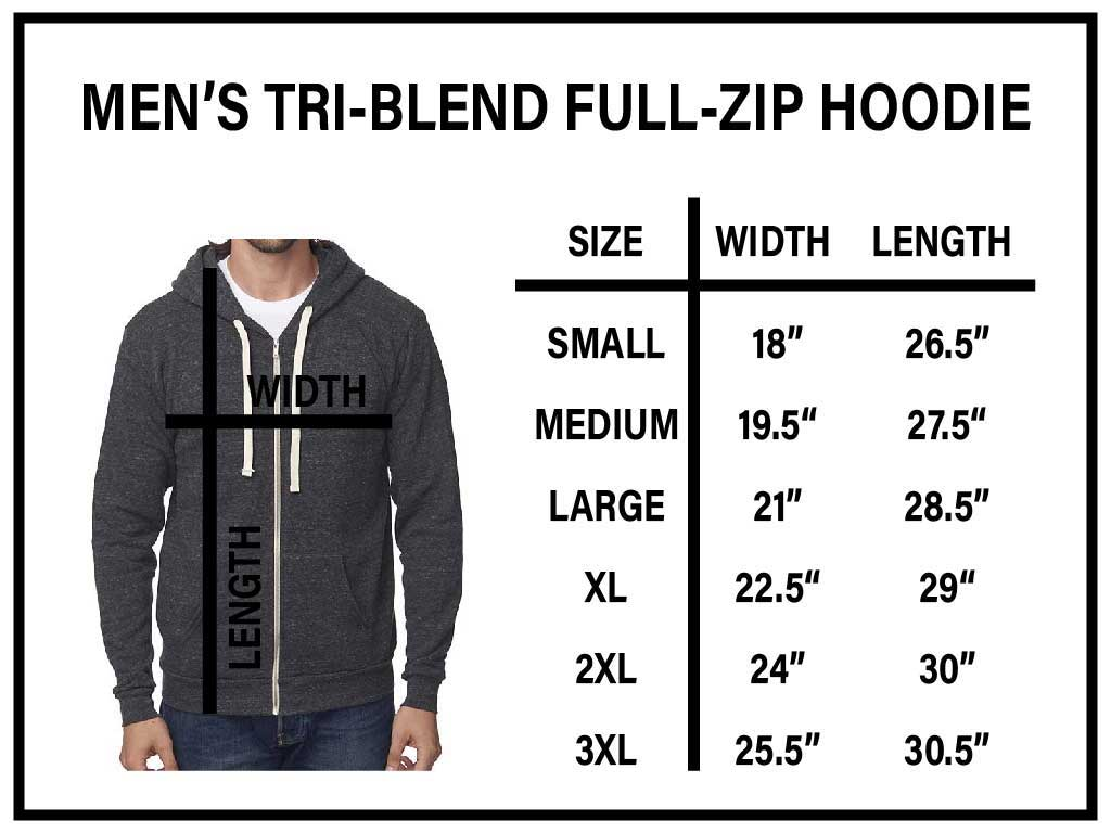 Mens Tri-Blend Full Zip