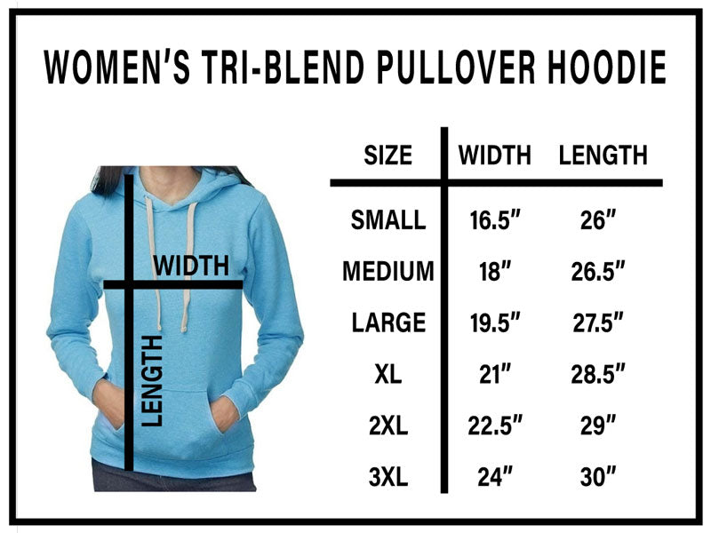 Womens Tri-Blend Pullover