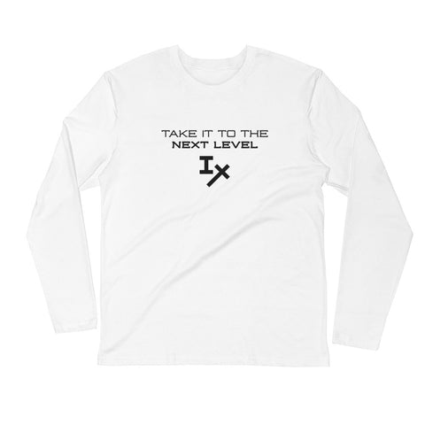 "White ""Take it to the Next Level"" Long Sleeve Shirt"