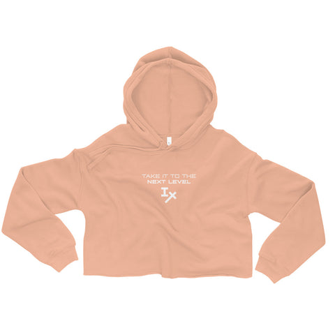 "Peach ""Take it to the Next Level"" Cropped Hoodie"