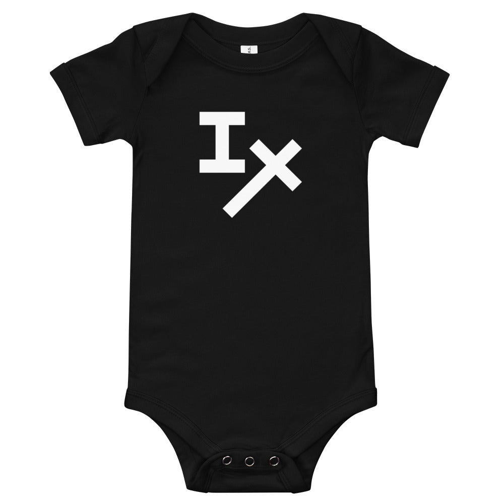 Black IX Baby Bodysuit