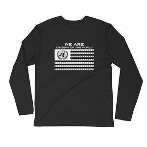 "Black ""Citizens of the World"" Long Sleeve Shirt"