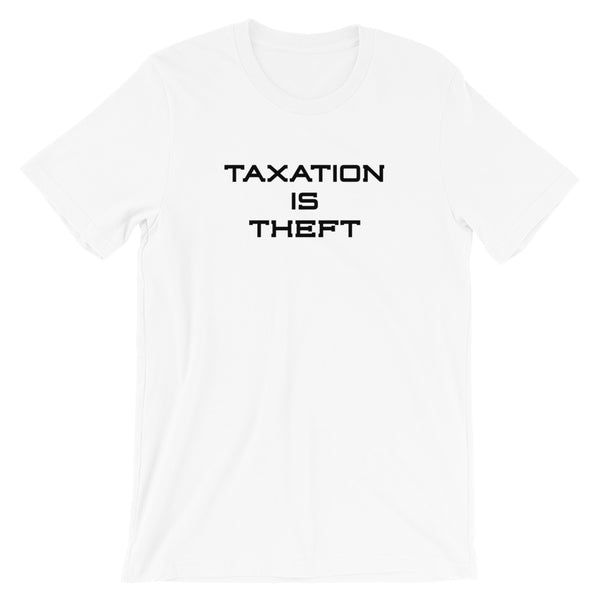 "White IX ""Taxation Is Theft"" T-Shirt"