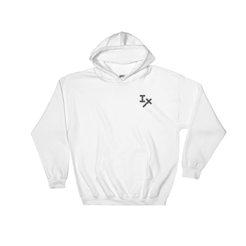 White IX Embroidered Hoodie