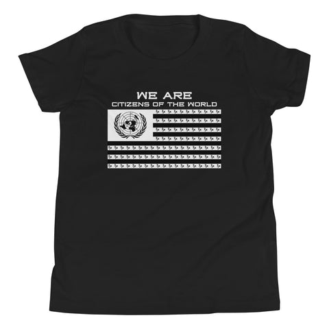 "Black ""Citizens of the World"" YOUTH T-Shirt"