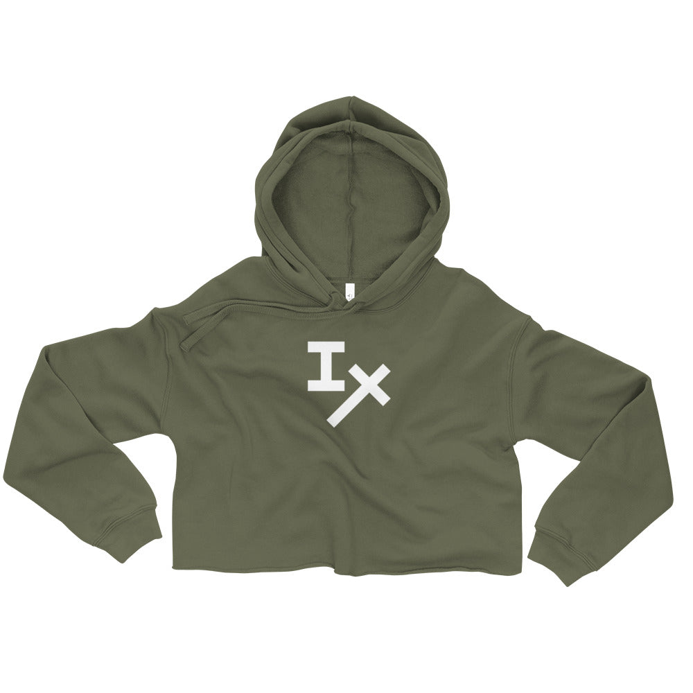 Army Green IX Cropped Hoodie