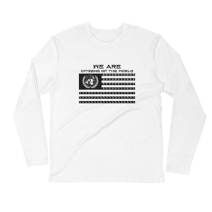 "White ""Citizens of the World"" Long Sleeve Shirt"
