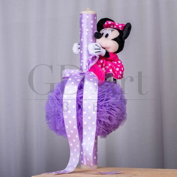Lumanare Long Minnie Pink Bl-34