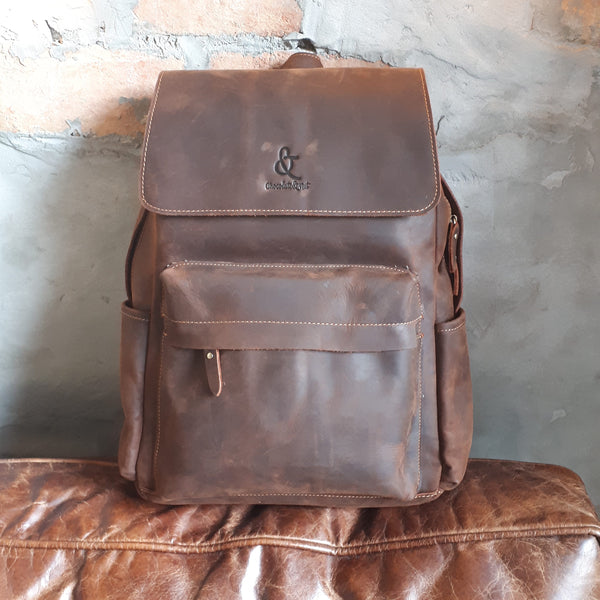 Full grain leather backpack_Bangalore Leather Backpack