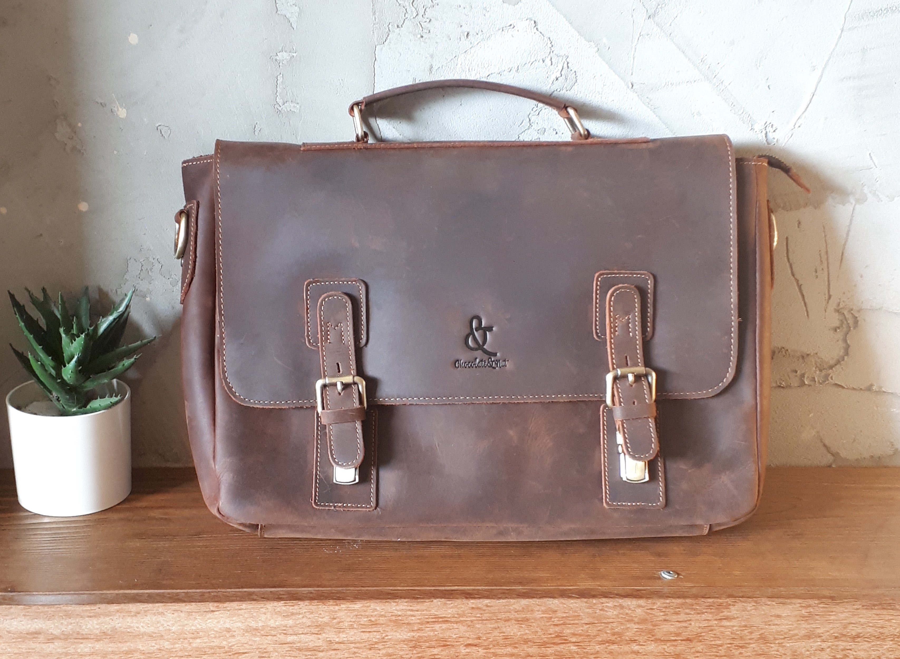 leather briefcase_sevilla leather briefcase