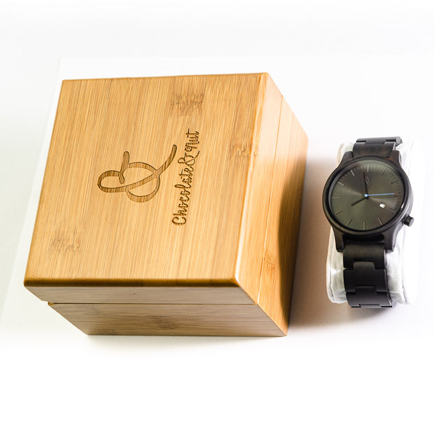Nuku Hiva Wood Watch - Chocolate&Nut