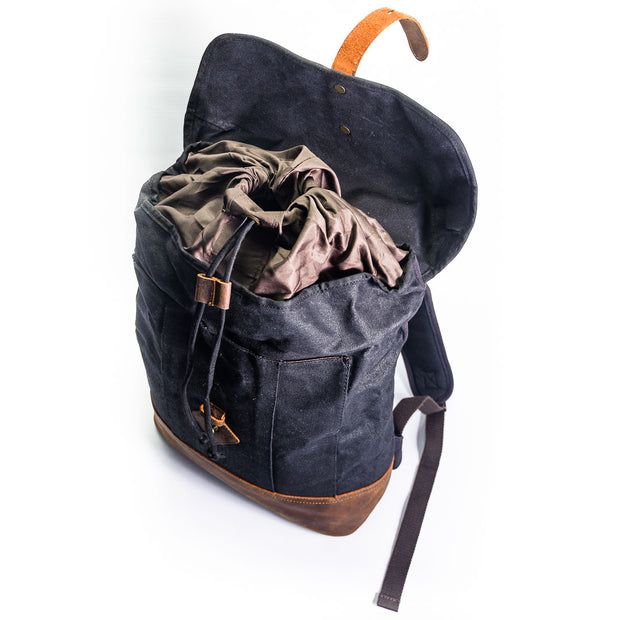 Milan Canvas Backpack - Chocolate&Nut