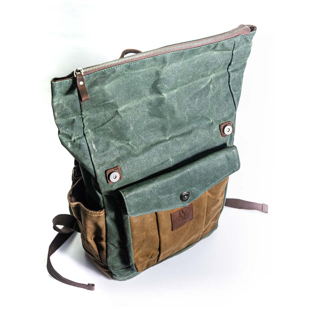 Phoenix Canvas Backpack - Chocolate&Nut