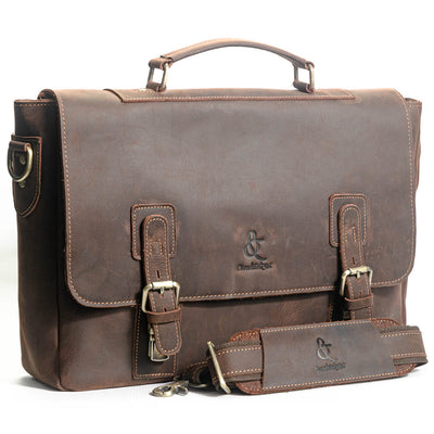 Sevilla Briefcase - Chocolate&Nut