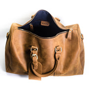 London Leather Duffle Bag - Chocolate&Nut