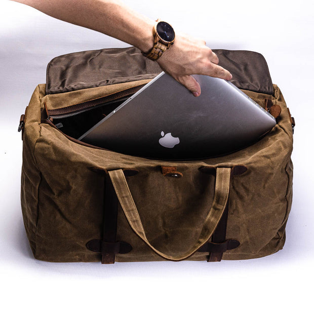 Denver Canvas Duffle Bag - Chocolate&Nut