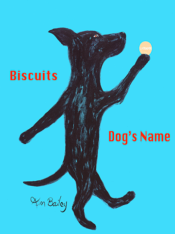CUSTOM BISCUITS LABRADOR - Retro Vintage Advertising Art featuring a Labrador Retriever by Ken Bailey