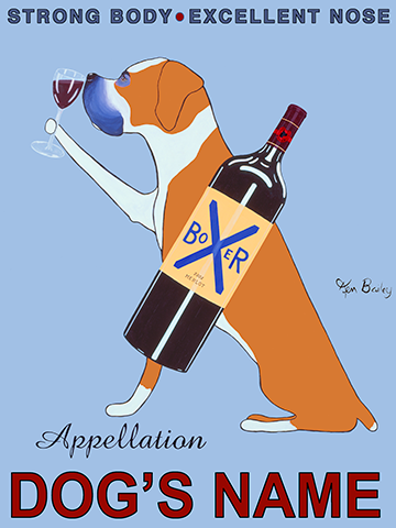 CUSTOM APPELLATION BOXER - - Retro Vintage Advertising Art featuring a Boxer by Ken Bailey