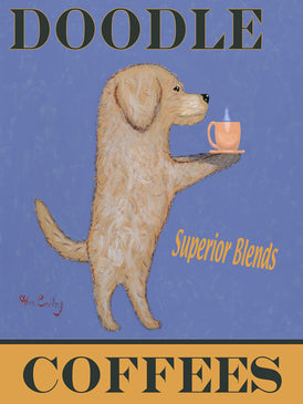 DOODLE SUPERIOR COFFEES - Retro Vintage Advertising Art featuring a Doodle by Ken Bailey