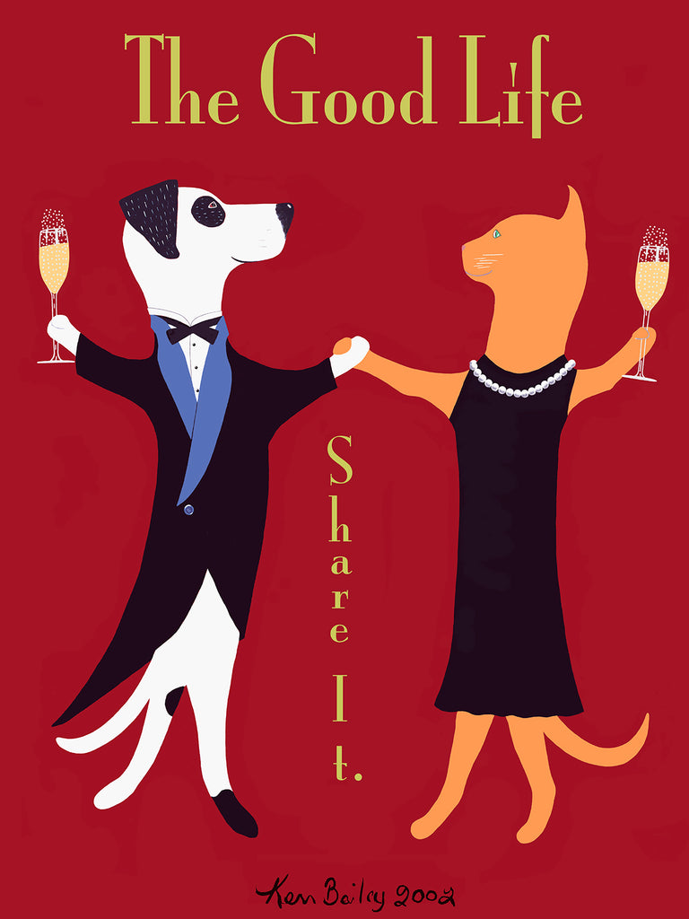 THE GOOD LIFE -  Art celebrating pet adoption by Ken Bailey
