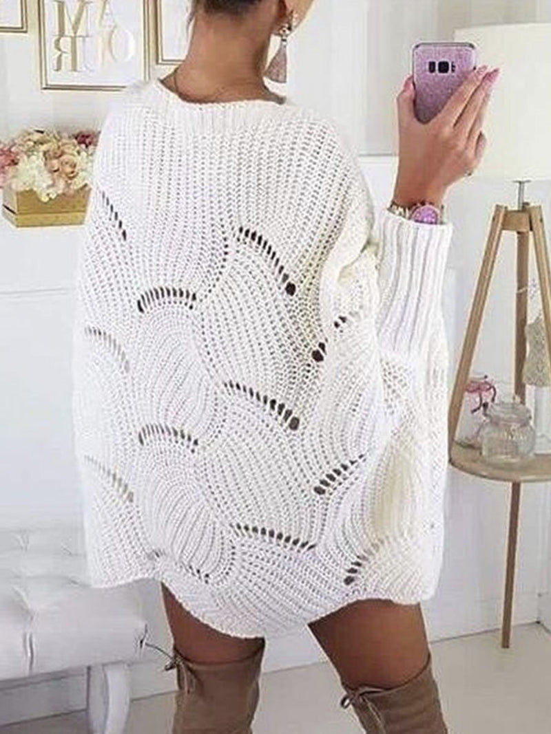 Loose autumn long sleeve knitted sweater Women winter fashion knitting warm jumper