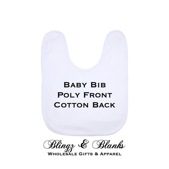 Poly Cotton Baby Bib