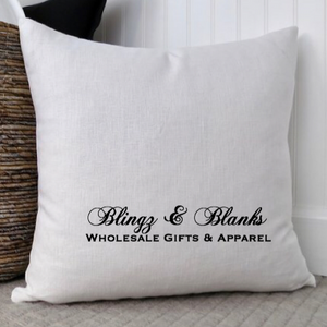 White Linen Pillow Cover