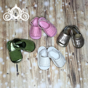 Baby Girls Leather Fringe Sandals