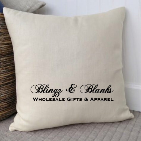 Natural Linen (Faux Burlap) Pillow Cover