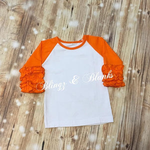 Girls Icing Ruffle Raglans - More Colors