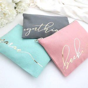Cotton Canvas Makeup Bags