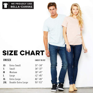 Bella + Canvas Size Chart