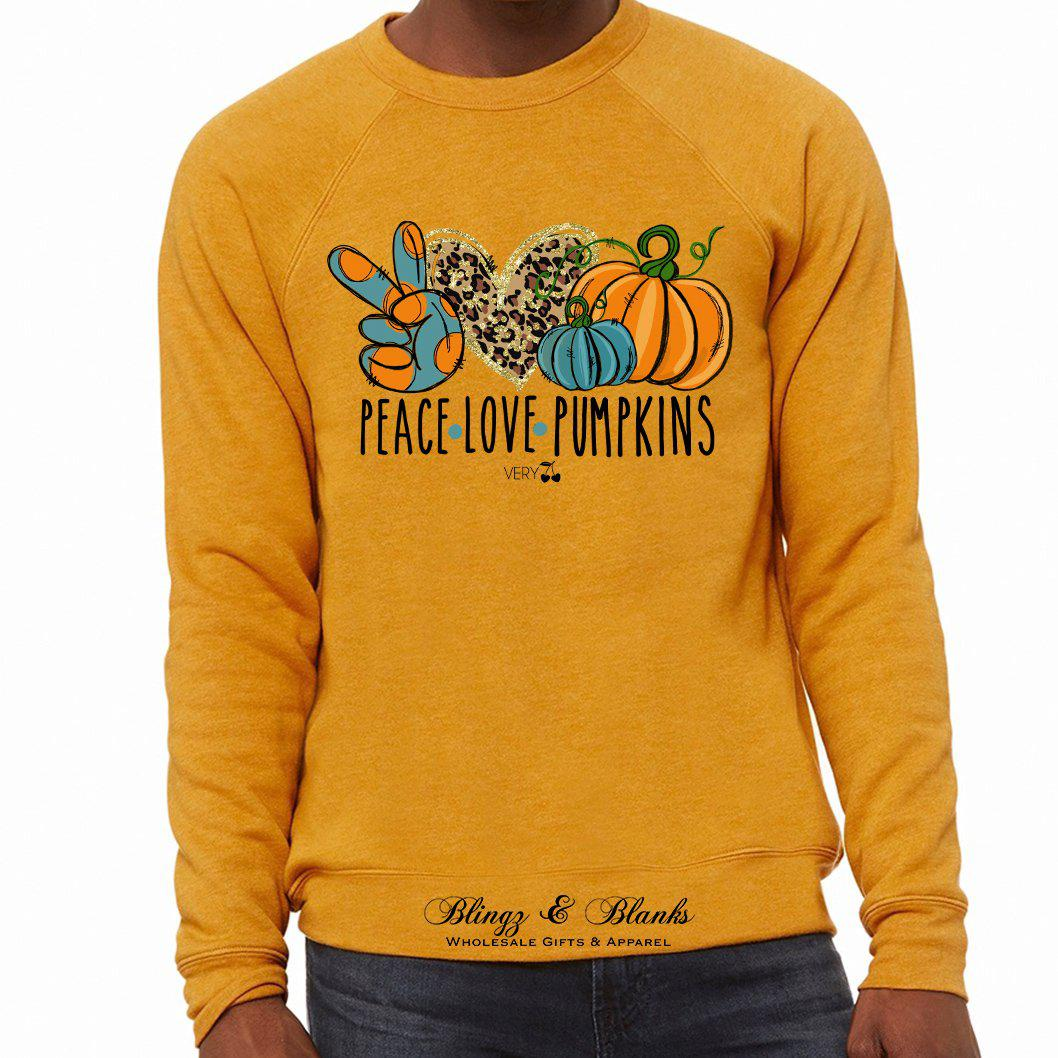 Peace Love Pumpkins Graphic Sweatshirt