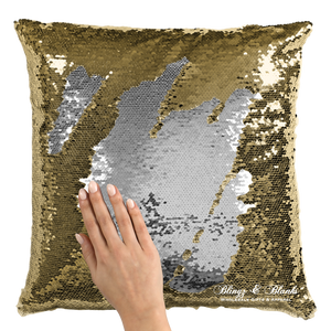 Gold/Silver Reversible Sequin Pillow_Blingz & Blanks Wholesale