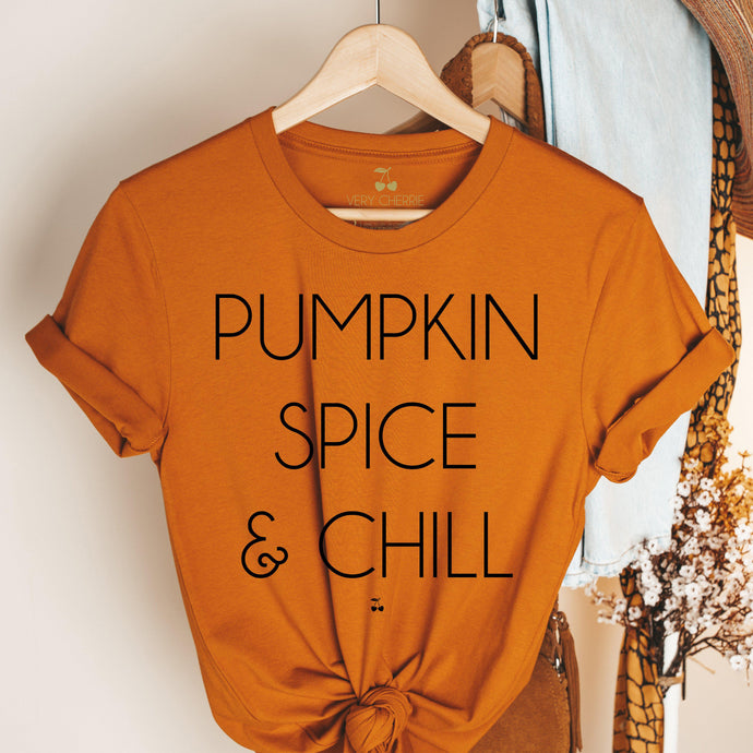 Pumpkin Spice & Chill Graphic Tee