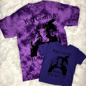 Kids - Bad Witch Tie Dye Graphic