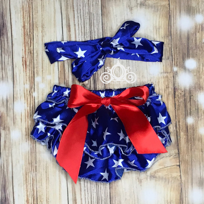 Stars Ruffle Bloomer Set