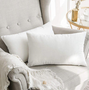 12x20 White Velvet Pillow Cover