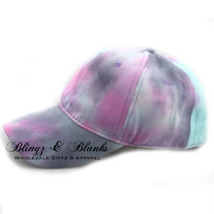 Distressed Canvas Tie Dye Trucker Hat