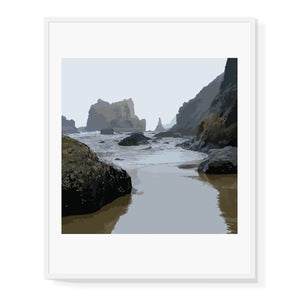 Limited Edition Coastal Landscape Square Format