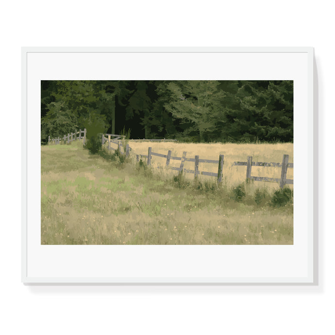 Fenced Field Limited Edition Print
